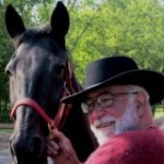 Thomas L. Trumble with Royal, one of his gifts.Click to visit Thomas's Facebook Page for more stories from the stables.