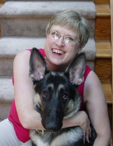 Mystery Author Lauren Carr and Gnarly. Yes, Gnarly is a handful. Click on author pic to visit Lauren's website.