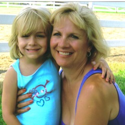 Author CS and granddaughter Kiersten. Click on picture to visit CS's website to view her romantic-suspense titles.