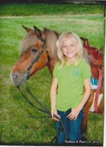 Kiersten and George, the grungy pony who inspired GEORGE THE BOSS. Click on picture to purchase C.S. McDonald's book on Amazon.